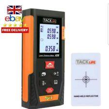 Medida de láser, Medidor de Distancia Láser tacklife Hd40M, herramienta de medida Portátil con 2