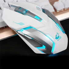 Rechargeable Wireless 2.4GHz USB Optical Ergonomic LED Light X7 Gaming Mouse UK