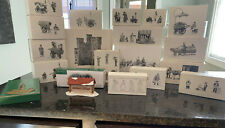Lot of 20 Department 56 Heritage Village Collection Dicken's Castle, Accessories