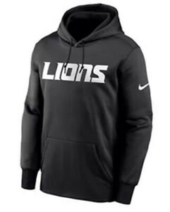 Nike Men's Detroit Lions Therma Prime Black Hoodie Sweatshirt Extra Large XL NFL