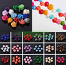10/30pcs 10mm Resin Carved Rose Flower Jewelry DIY Charms Loose Spacer Beads New