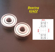 2 x Ball Bearing 624ZZ Roulement à Billes 4 x 13 x 5mm 624ZZ