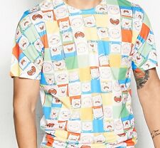 ADVENTURE TIME FINN FACES ADULT XS - L AWESOME T-SHIRT Authentic RARE SALE!