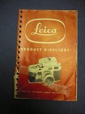 Leica Product Directory (Sept. 1954) Camera Equipment Catalog