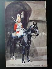 Old PC - London: Life Guard on Sentry Duty at Horse Guards, Whitehall