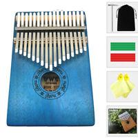 Instrument Kalimba 17 Keys Finger Piano Mahogany Thumb Mbira Blue Beginners