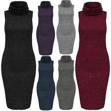 Polo Neck Party Sleeveless Dresses for Women