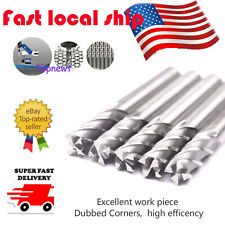 "5Pc 1/4"" x1/4"" HSS CNC 4 Flute End Mill Cutter Straight Shank Drill Bit Tool US"