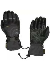 G-Mac Pilot Waterproof Motorcycle Leather/Textile Motorbike Leather Gloves Black