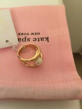 Kate Spade Clear Multi pearly Gold Ring size 7 new with tag /