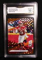 🏆2019 Donruss Elite Patrick Mahomes II 49/49 Orange Short Print Gem Mint 10 #14