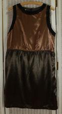 """MARNI Winter Edition 2011 Sleeveless Dress S 38"""" Bust Cupro Satin Colourblock"""