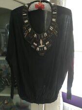 All Saints Spitalfields Hand embellished cotton Top Size 10/12 boho chic