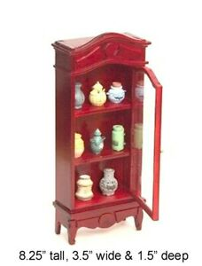 CABINET WITH VASES DOLLHOUSE MINIATURES 1:12 SCALE