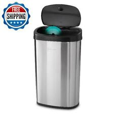 Automatic Stainless Steel Motion Sensor Trash Can 13 Gallon Kitchen Garbage Bin