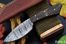 Custom Damascus Steel Hunting Knife Handmade With Walnut Handle (Z385-E)