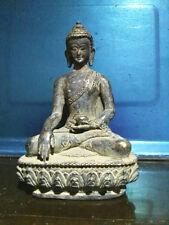 Old Tibet Bronze Buddhist Shakyamuni Sakyamuni Buddha Amitabha Bowl Statue