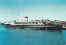 """NAVE - Italia, Navigazione - Turbonave """"Cristoforo Colombo"""" in porto"""