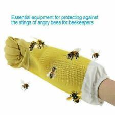 1 Pair Beekeeping Gloves Goat Skin Bee Keeping Vented P9q9 Sleeves B3i4