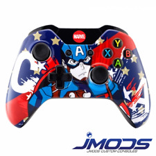 Xbox One 1 Custom Wireless Controller (Cpt America) New 3.5mm jack