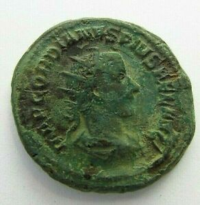 Ancient Roman Bronze Antoninianus of Gordian III  circa 238-244 AD  (529)