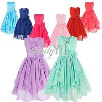 Flower Girl Birthday Pageant Wedding Party Formal Princess Kids Dress Size 4-14
