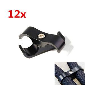 12x Black CNC AN10 19MM Braided Hose Separator Mount Clamp Adapter Bracket Clip