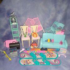 Lot of Barbie Furniture + Other Barbie-Sized Accessories Mattel VINTAGE & MODERN