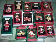Hallmark Lot of 14 SANTA CLAUS Ornaments, NIB
