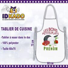 Tablier de cuisine LES BON PETITS PLATS DE personnalisé avec Prénom cadeau