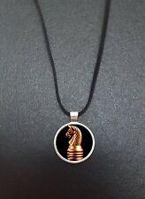 """Chevalier d'échecs pièce pendentif sur un 18"""" noir cord collier idéal anniversaire cadeau N335"""