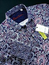 Robert Graham Geometric Paisley Colorful Print XL Jacquard Shirts
