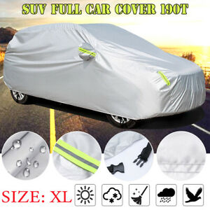 Car SUV Cover Universal Fit 3Layer Sun Protection Waterproof Dust Snow Resistant
