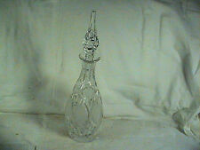 "Cut Crystal Decanter With Original Crystal Stopper, Frosted Panels 15 1/2"" tall"