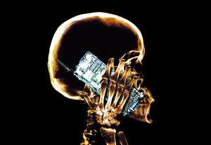 Mobile Phone - Skeleton - X Ray - Xray A3 Art Poster Print