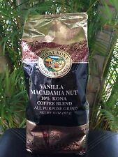 Vanilla Macadamia Nut Royal Kona 10% Kona Coffee 40 oz AP Ground 2.5lbs Fresh!