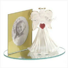 Glass Angel with Photo Frame on Mirror