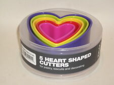 New Zeal Biscuit Pastry Cookie Cutters Plastic Set Of 5 Heart Shaped N202