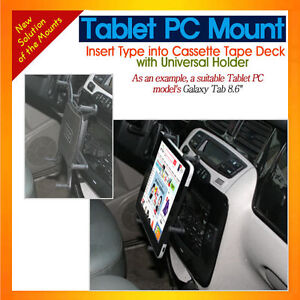 """Cassette mount with Universal Holder for tablet PCs as iPad Air, Galaxy Tab 8.6"""""""