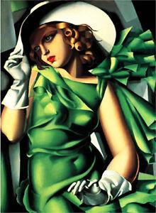 Dipinto olio su tela tamara de lempicka prodotto italiano pintura malarei quadro