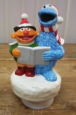 Ernie Cookie Monster Gorham Music Box Christmas Muppets Sesame Street Vintage