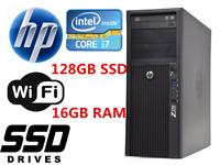 Fast HP Z210 MT Desktop computer Intel i7 16GB RAM 256GB SSD+1TB HDD Win10 WIFI