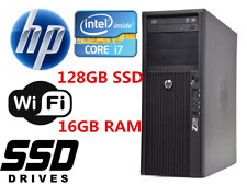 Fast HP Z220 MT Desktop computer Intel i7 16GB RAM 128GB SSD+1TB HDD Win10 WIFI