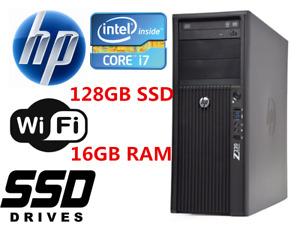 Gaming HP Z220 workstation Desktop PC i7 16GB 240GB SSD+1TB HD6450 Win10 WIFI