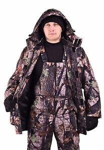 Spring Autumn Fishing Hunting Camouflage Suit  Jacket Pants Bib and Brace L-XL