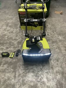 Ryobi RY40860 Electric Snow Blower 2 Battery 5.0Ah And Charger