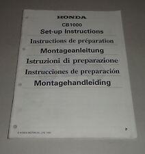 Istruzioni di montaggio/Set-up instructions HONDA CB 1000 STAND 1992