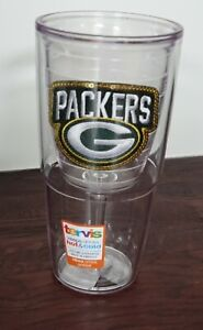 Tervis licenced genuine  NFL Green Bay Packers Sequin 16 oz. Goblet hot/cold dri