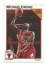 "1991-92 NBA Hoops Basketball MICHAEL JORDAN ""Most Valuable Player"" #30 BULLS!"