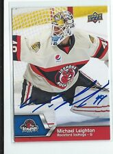Michael Leighton Signed 2014/15 Upper Deck AHL Card #68